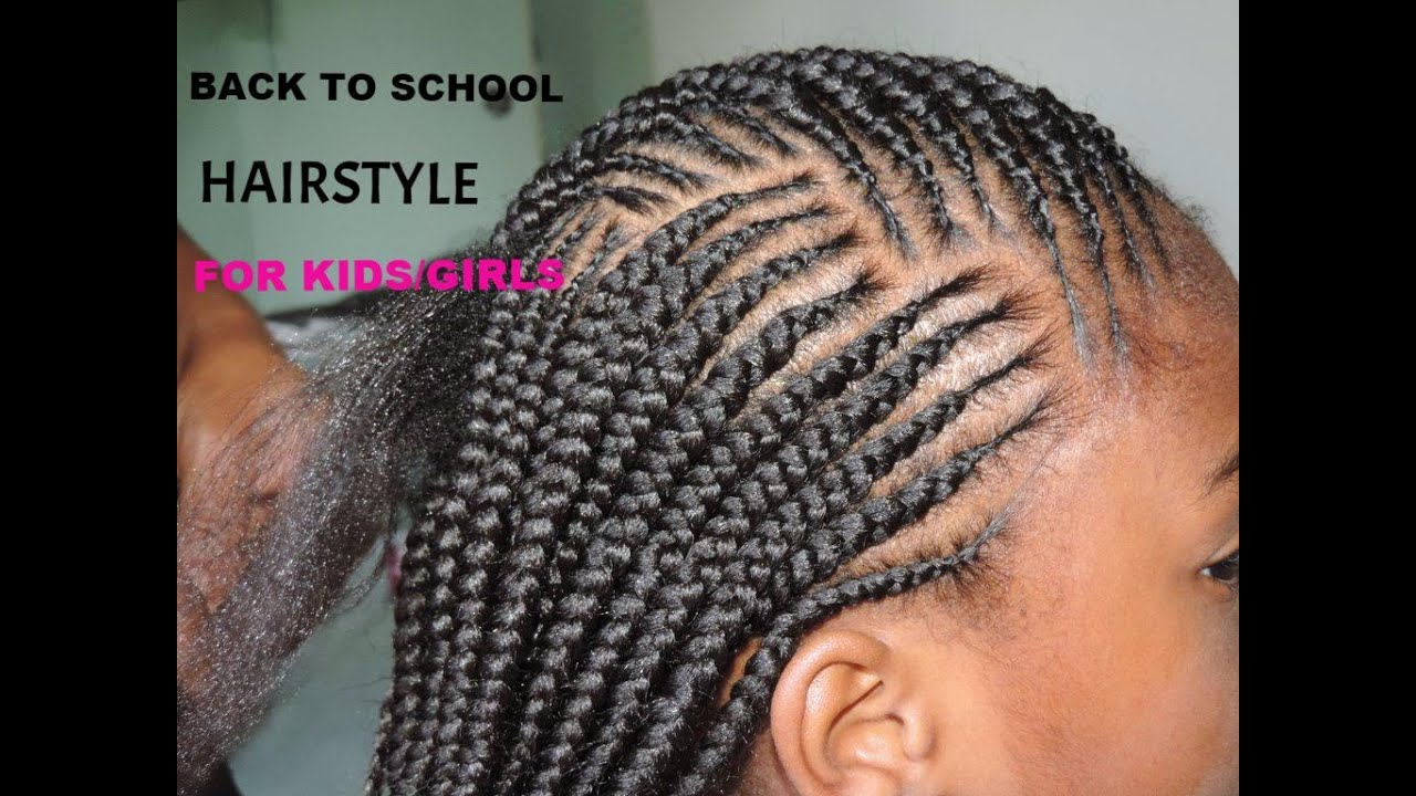 back to school hairstyle for kids /girls (simple and cute) #2