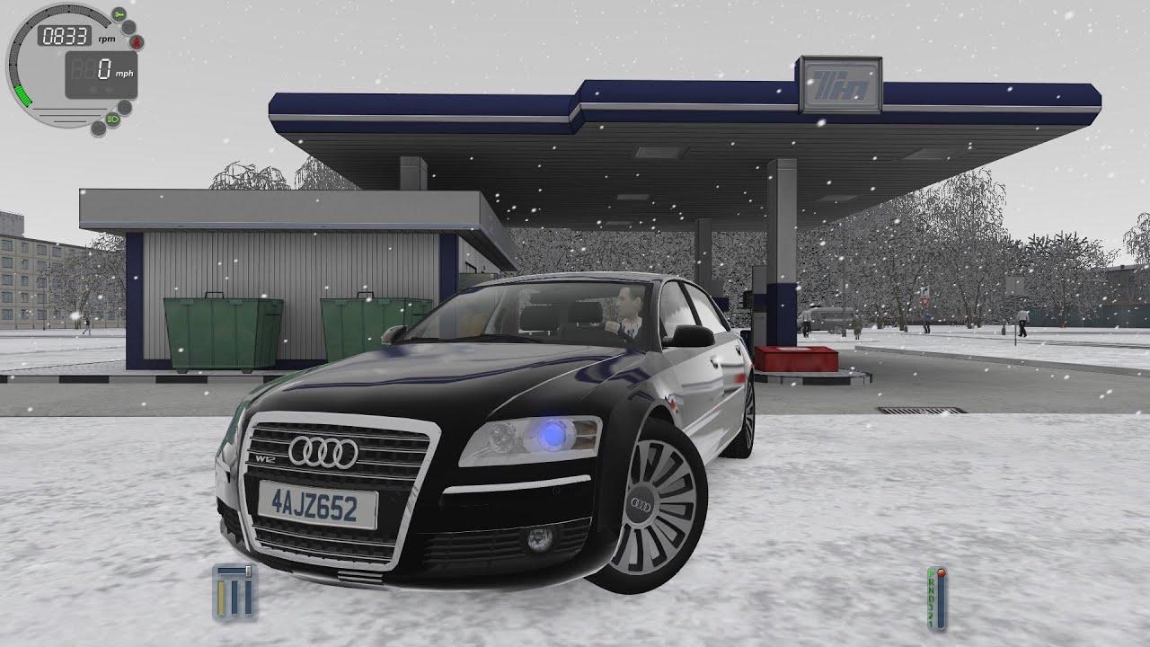 4e361b3cdeb City Car Driving 1.5.0 Audi A8 W12 SNOW [Logitech G27] by DriveSpot