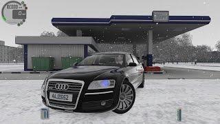 city car driving 1 5 0 audi a8 w12 snow logitech g27