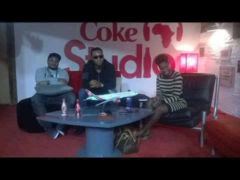 Flavour and Juliana with Producer Masterkraft at Coke Studio Africa