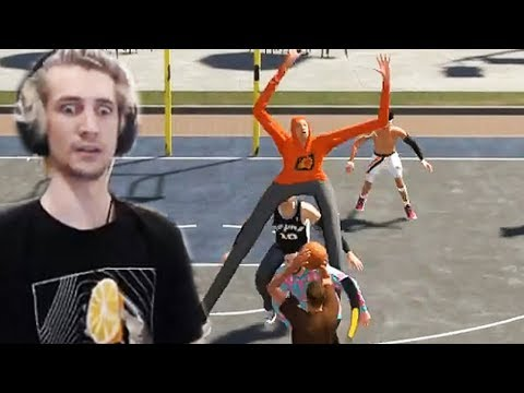 WHAT IS THIS!? - XQc Plays NBA 2K19 Online
