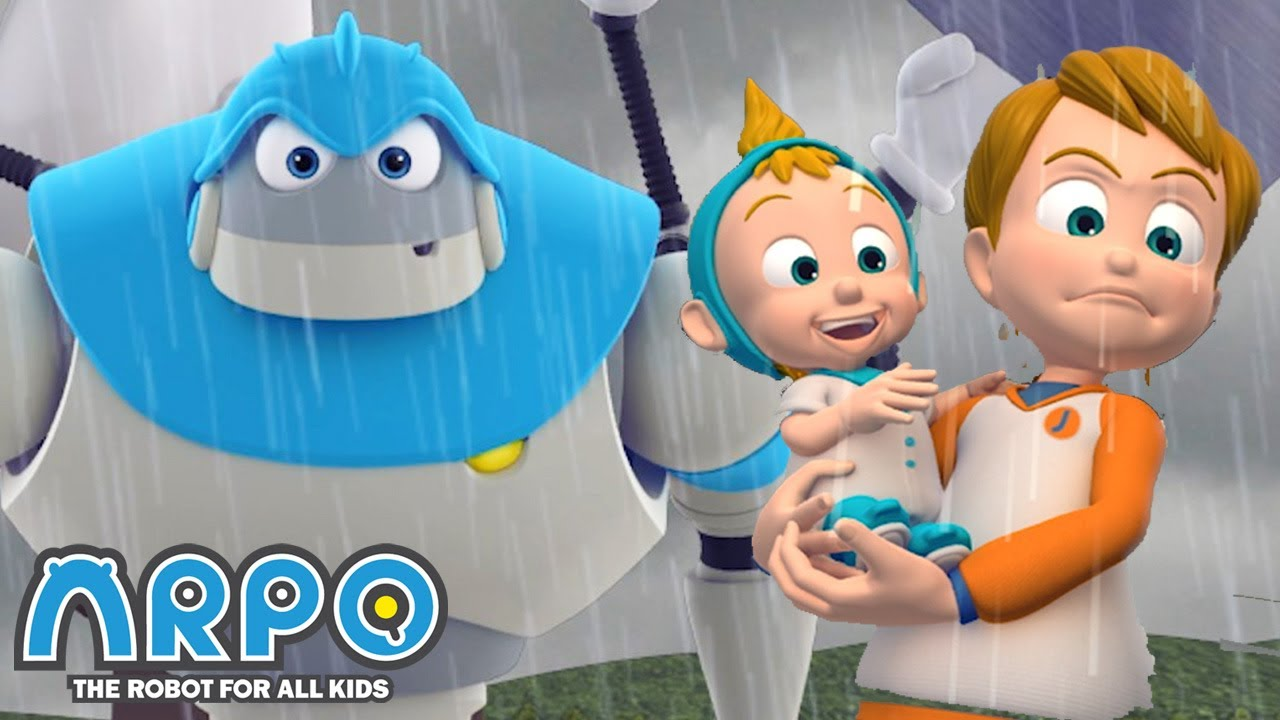 Stolen Baby PACIFIER! - ARPO the Robot | 에피소드를보고 | Cartoons for Kids | Robot Animation