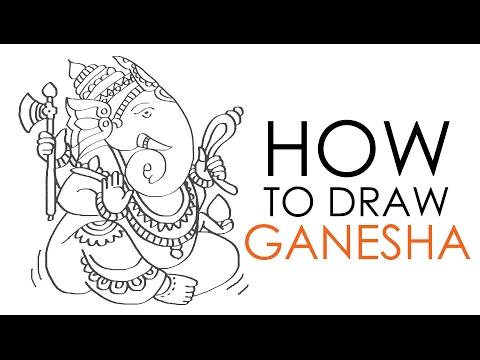 How To Draw Ganesha Youtube