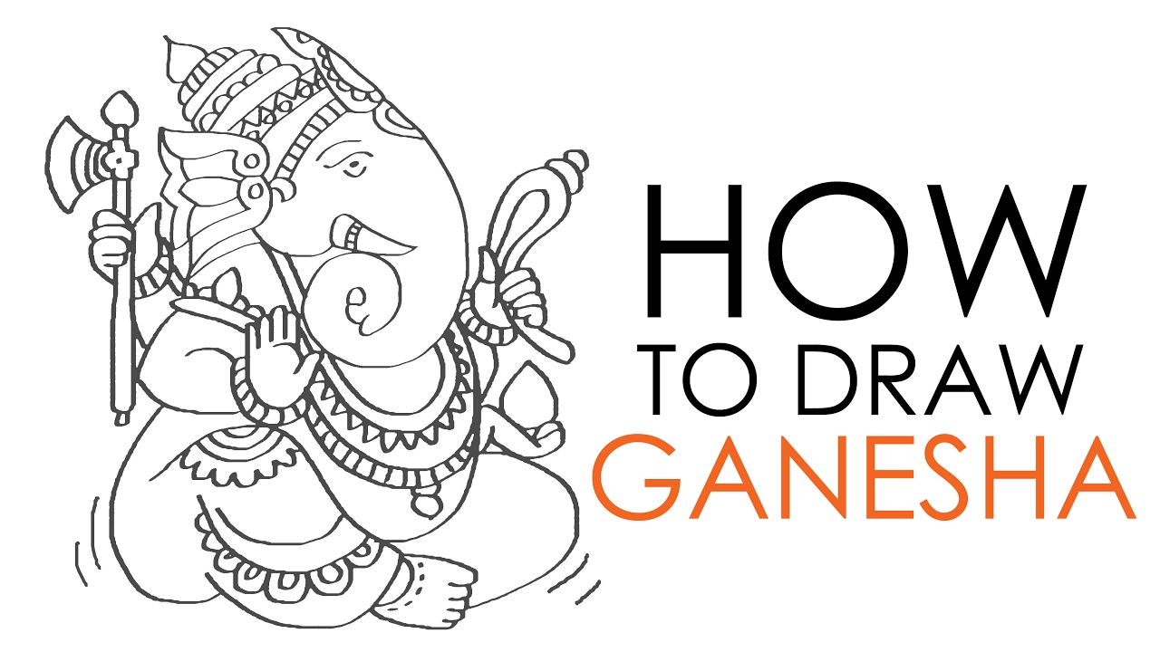 How to draw ganesha youtube for How to doodle names