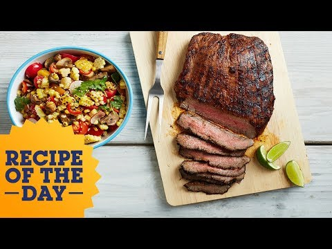 Recipe of the Day: Sweet and Spicy Chili-Lime Flank Steak | Food Network
