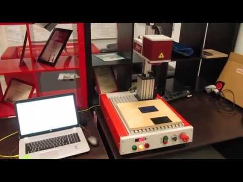 ТурбоМаркер-В20 -  лазерная гравировка таблички из алюминия