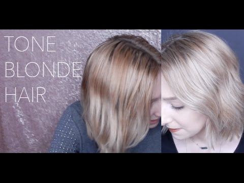 How To Tone Blonde Hair Brassy To Ashy Ion Demi