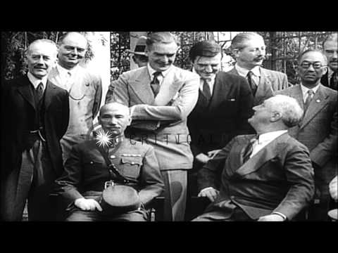 Franklin Delano Roosevelt with Winston Churchill,Chiang Kai-shek and Joseph Stali...HD Stock Footage
