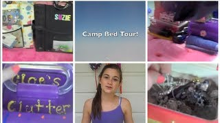 Camp Bed Tour + Makeup, Toiletry, And Jewelry Collections!