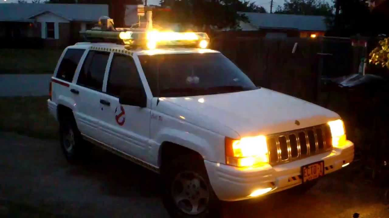 ecto 1 made from jeep grand cherokee youtube. Black Bedroom Furniture Sets. Home Design Ideas