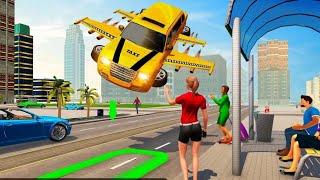 Big City Limo Car Driving Taxi Game 2021   Flying Car Driving screenshot 3