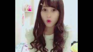 アイドルグループparfiat(パルフェ)の西山乃利子さんのリップシンク動画...