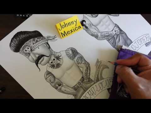How to draw a cholo with lowrider bombs tattoo designs