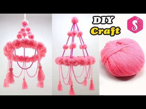 NEW Ceiling hanging Design | WOOLEN CRAFT | Easy DIY Craft | DIY Home Decor