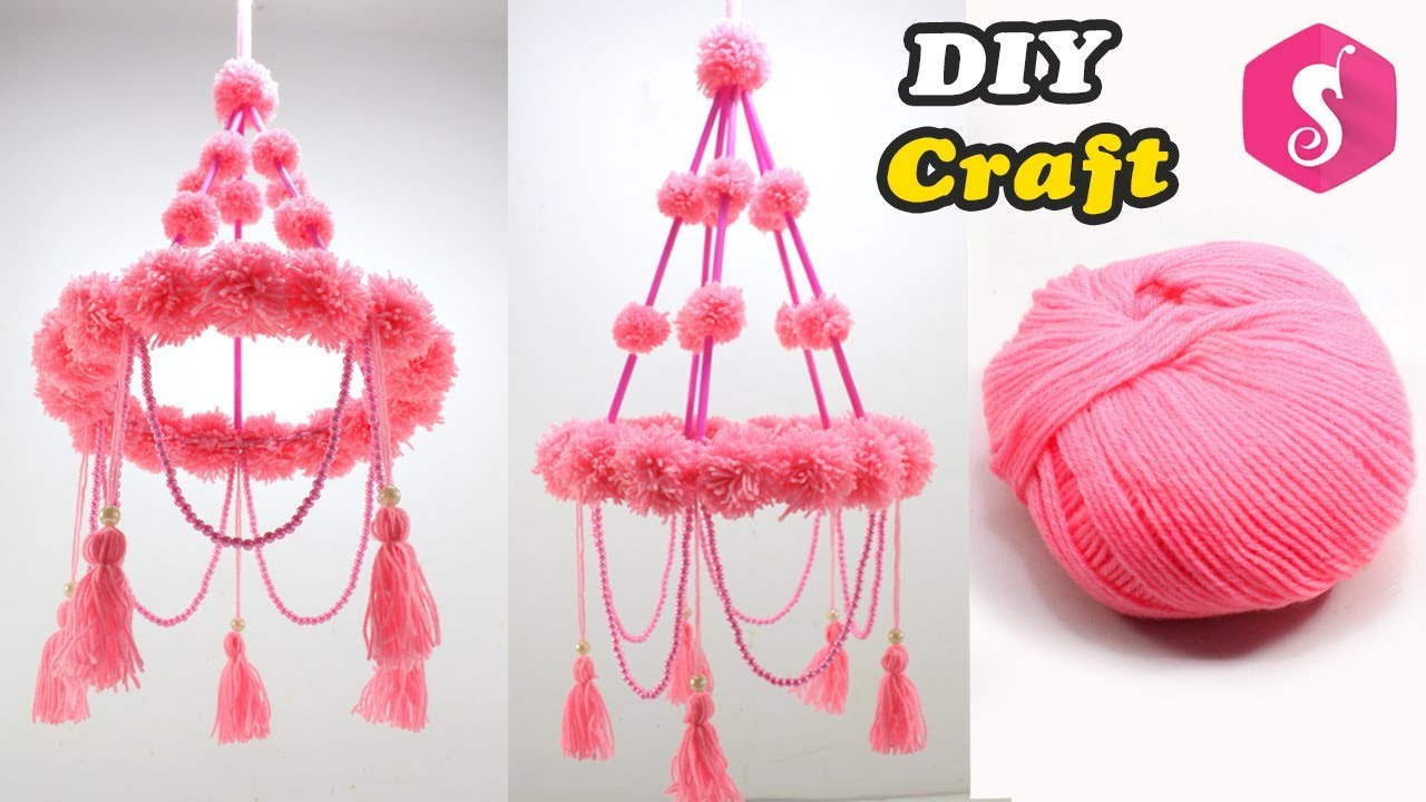 New Ceiling Hanging Design Woolen Craft Easy Diy Craft Diy