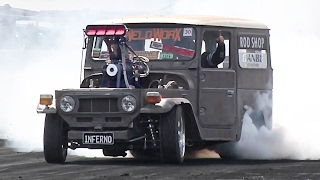 1500hp Toyota FJ40 DESTROYS Tires!?