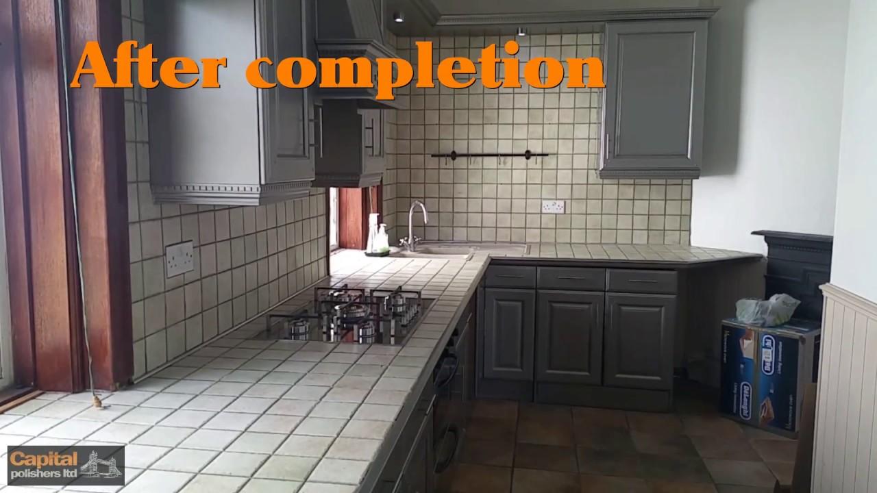 Metallic paint kitchen doors and cupboards: Pantone 9007 50% satin ...
