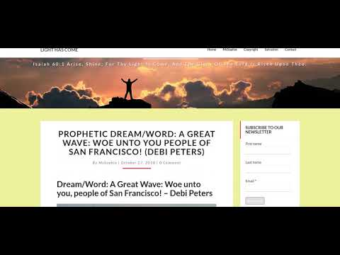 WARNING DREAM FOR SAN FRANCISCO!! BYRON SEARLE MESSAGE!  MORE MESSAGES & NEWS!