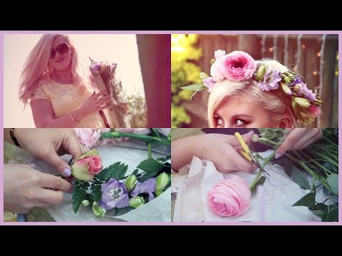 Super Easy Fresh Flower Crown Tutorial!