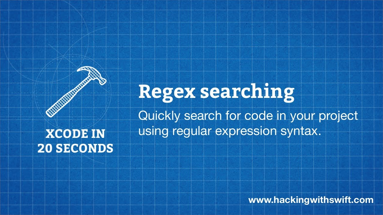 Xcode in 20 Seconds: Regex searching