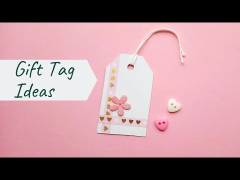 6 Diy Gift Tags For Valentines Day Easy Gift Tag Ideas Simple Gift Tags Valentinesgifttag Youtube