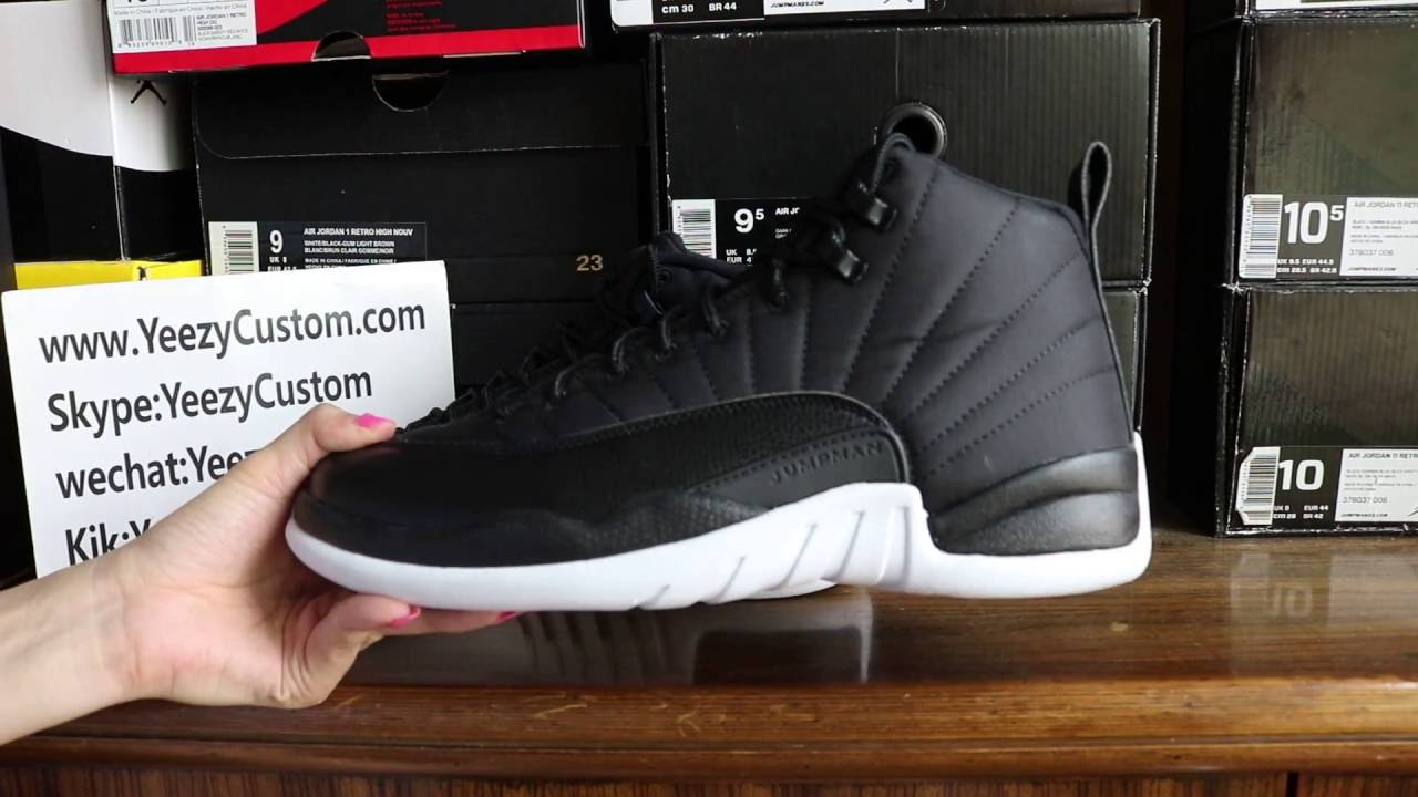 3d97be160b66 Authentic Air Jordan 12 Neoprene Black Nylon HD Review - YouTube
