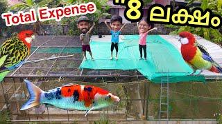 ഞങ്ങൾ കിളിക്കൂടിന്റെ മുകളിൽ കയറി | 8 Lakh Worth Aviary !!