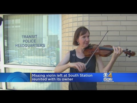 Woman Reunited With $40,000 Violin By MBTA Police