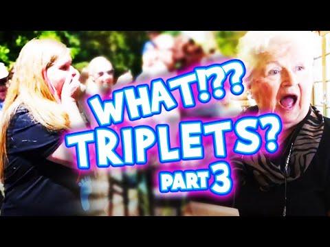 Triplets Part 3!! Best funny & heart warming triplet pregnancy reveal compilation - Deaf Friendly