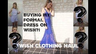 I BOUGHT MY FORMAL DRESS ON WISH?! CLOTHING HAUL TRY ON |Tara Shae