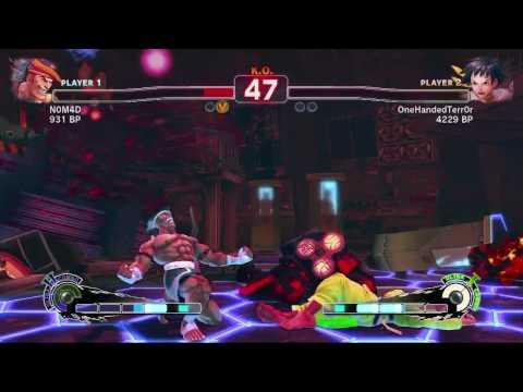 Super Street Fighter 4 - N0M4D Versus One Handed Terror in HD!