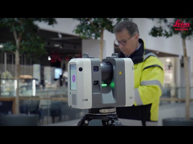 Leicas RTC360 scannade nästan hela Kungsmässan på en arbetsvecka