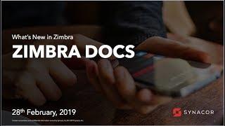 Zimbra Docs Webinar thumbnail