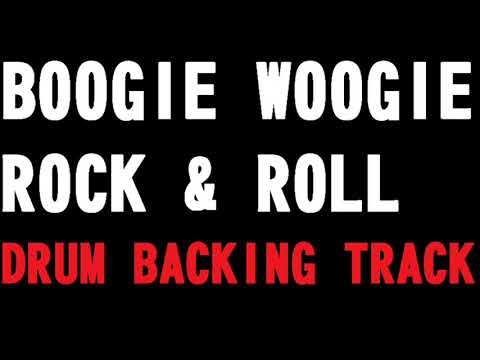 BOOGIE WOOGIE ROCK & ROLL BACKING DRUM TRACK -170 BPM-