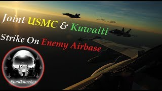 Leading a Strike of 12 USMC & Kuwaiti F/A-18C Hornets Deep into Iran - DCS World Co-Op Mission!