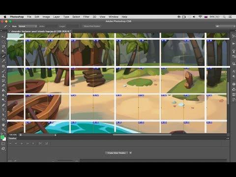 Как автоматически разрезать (разделить) фотографию на равные части в Adobe Photoshop
