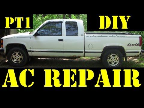 1995 Chevrolet K1500 4×4 DIY Air Conditioning repair Pt1