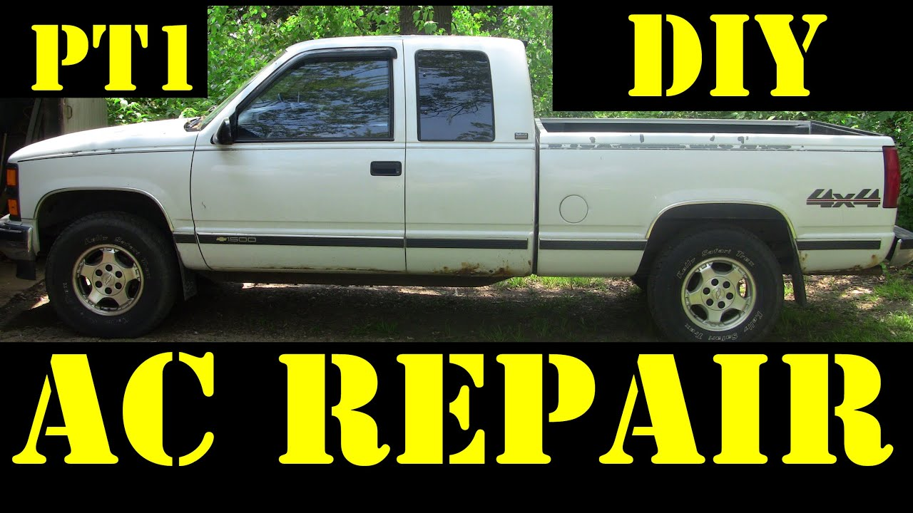 1995 chevrolet k1500 4x4 diy air conditioning repair pt1 [ 1280 x 720 Pixel ]