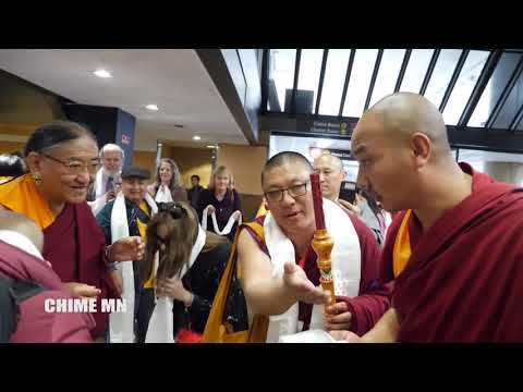Repeat His Holiness the Sakya Trichen arrived at Seattle