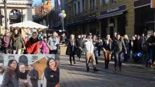 Lánykérés Pécsett, a Széchenyi téren [ Flashmob ]