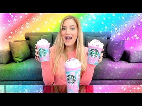 Thumbnail: 🌈 Starbucks Unicorn Frappuccino Taste Test!