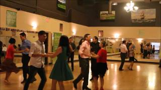 Salsa Group Class performance at a social dance party in Markham Toronto 2016