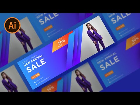 Illustrator Tutorial | Web Banner Design ( Fashion ) thumbnail