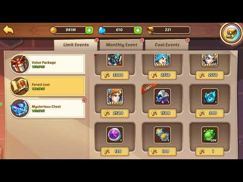Idle Heroes - New Forest Lost and Mysterious Chest events: The Col. Speaks...