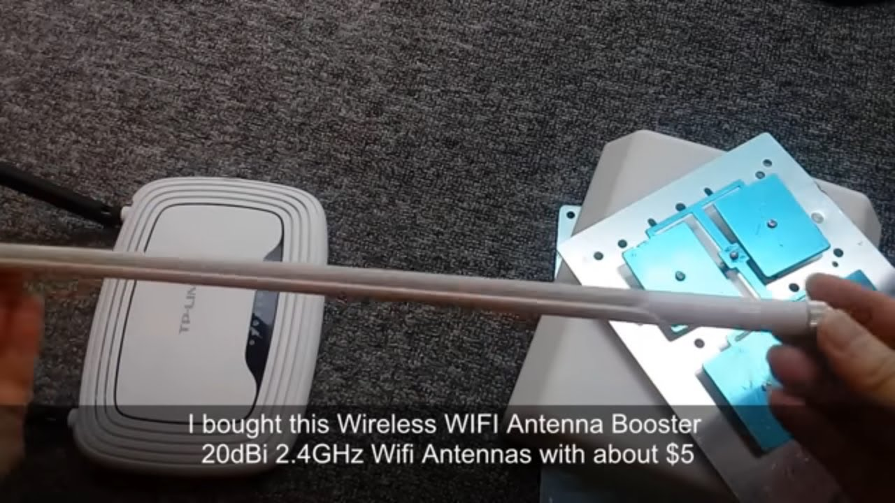 Long range outdoor antenna mod for TP-LINK WIFI router with 16dBi  directional antenna