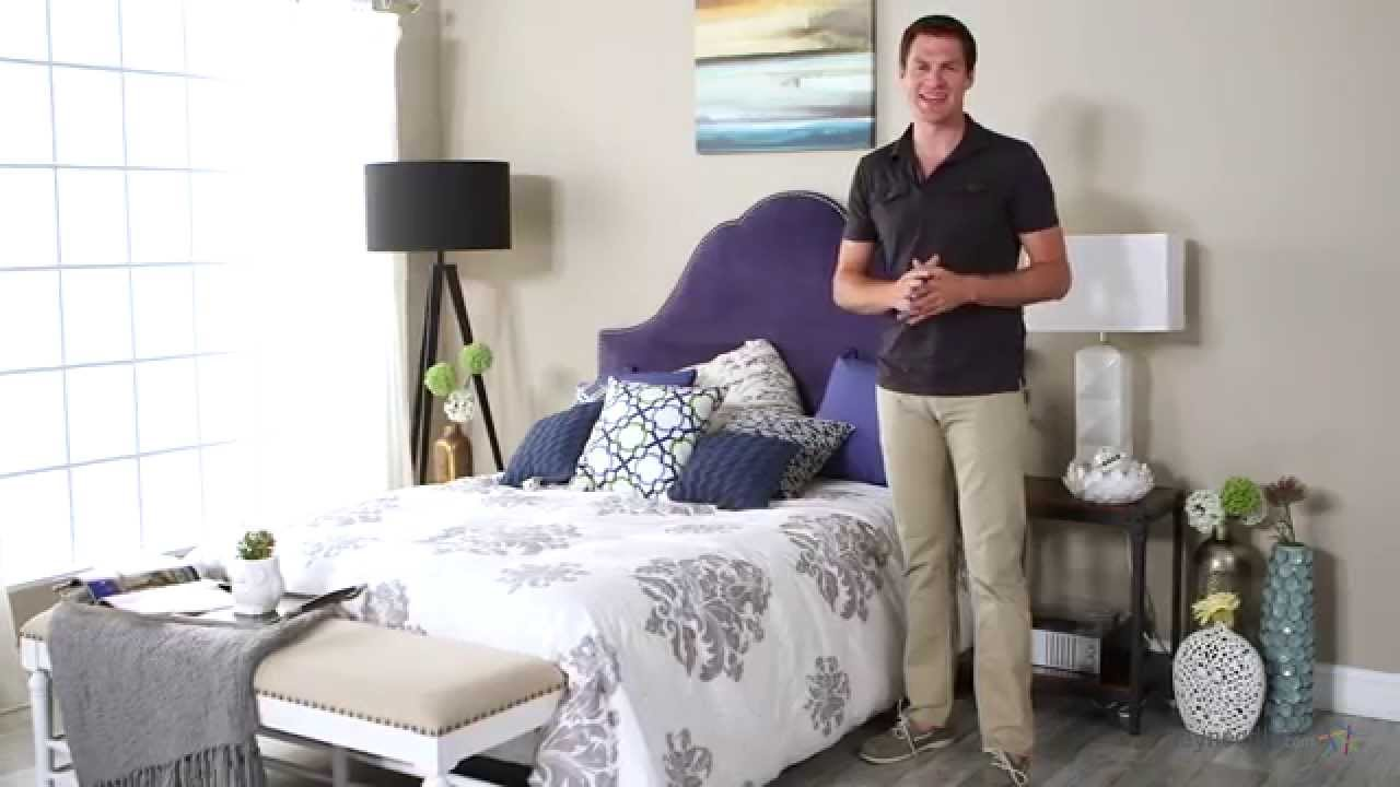 Skyline Arch Nail Button Headboard - Product Review Video - YouTube