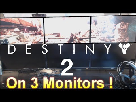 Stonefox Plays Destiny 2 Beta on 3 Monitors And On A Projector. Ps4 and Xbox Have A Problem