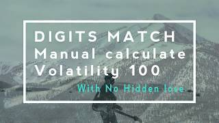 TRADING BINARY - digits match trading strategy use manual calculate