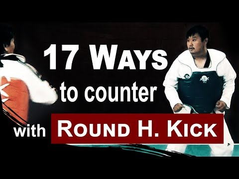 17 Different Ways to Counter with Round House Kick | Taekwondo Sparring 101 | TaekwonWoo