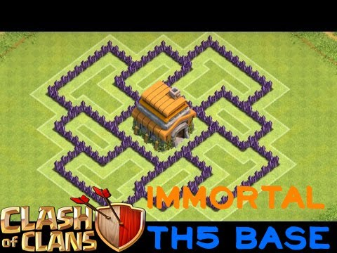 The Best Ever TH5 Defensive COC War Base (IMMORTAL DEFENSE)-Specialized For Clan Wars Only